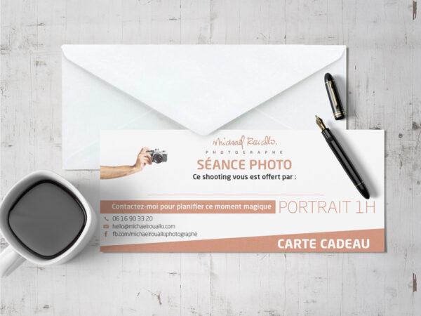 Carte cadeau séance photo portrait 1 heure