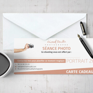Carte cadeau séance photo portrait 2h